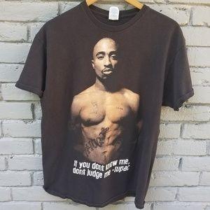 Tupac Graphic T - Black - Large - Retro Reprint